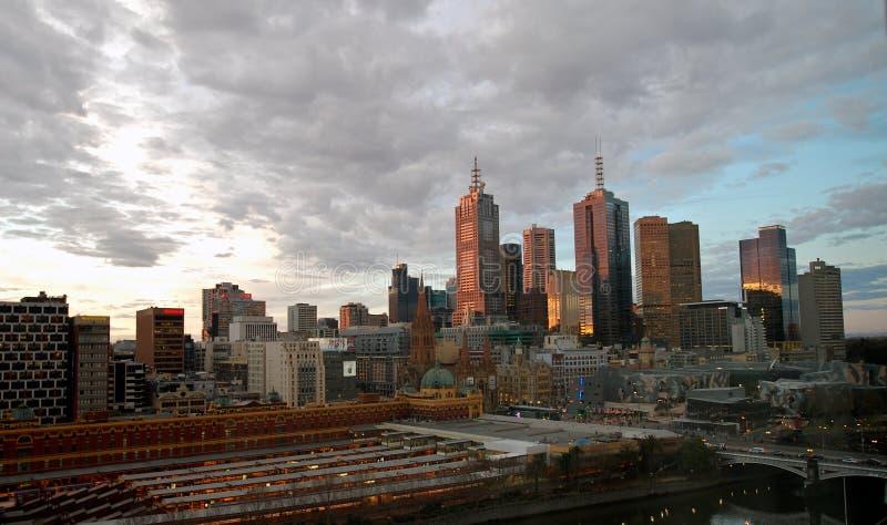 Horizonte de Melbourne foto de archivo