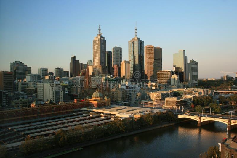 Horizonte de Melbourne fotografía de archivo