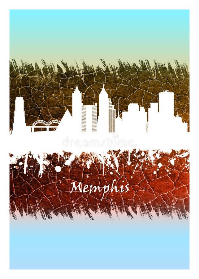 Horizonte de Memphis azul y blanco libre illustration