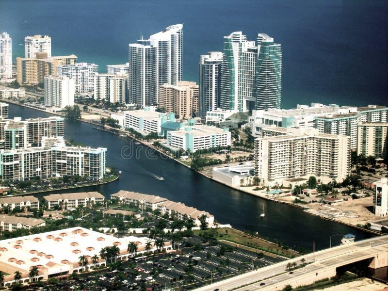 Horizonte de Miami fotografía de archivo