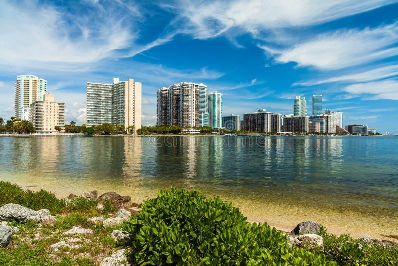 Horizonte de Miami foto de archivo