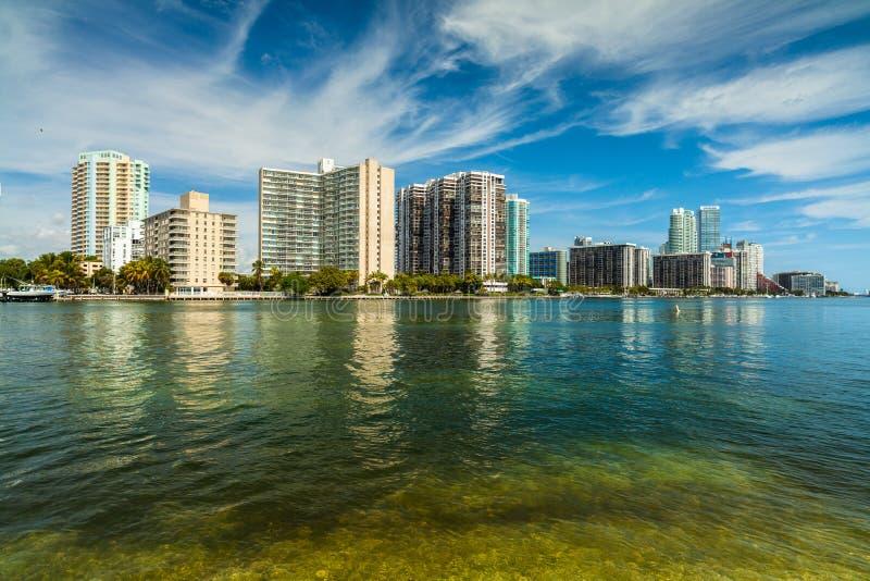 Horizonte de Miami fotos de archivo libres de regalías