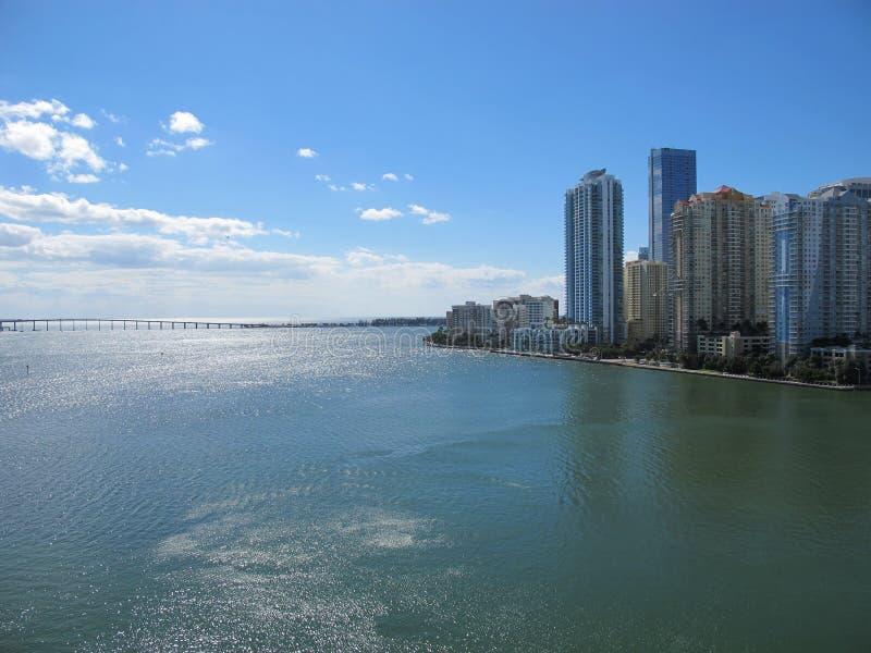 Horizonte de Miami céntrica, la Florida fotos de archivo