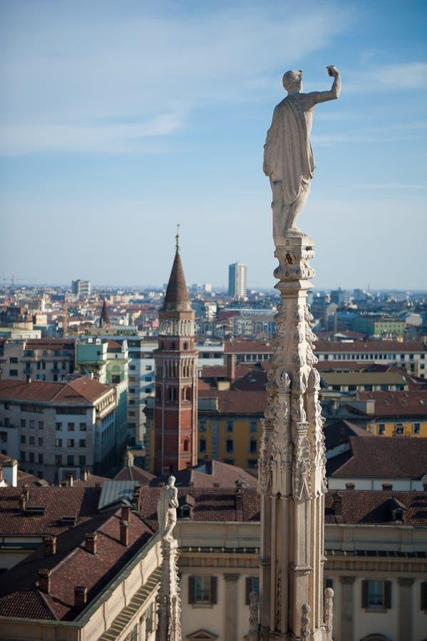 Horizonte de Milano, Italia imágenes de archivo libres de regalías