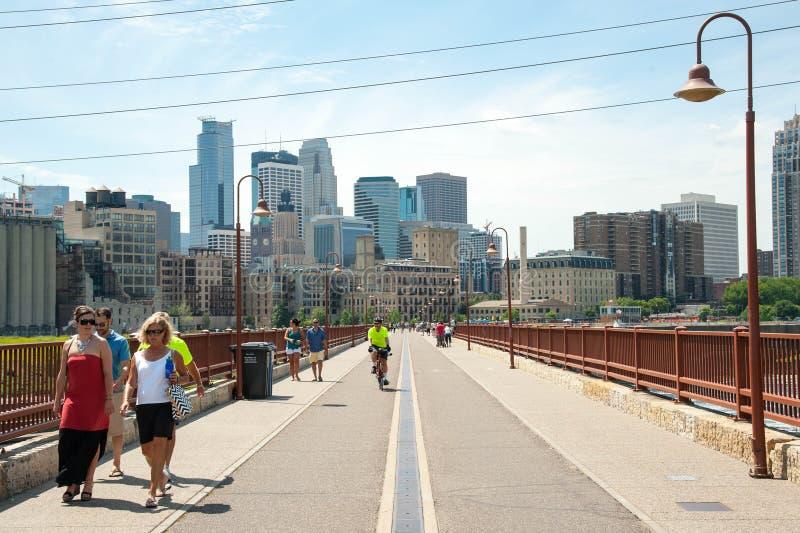 Horizonte de Minneapolis fotos de archivo libres de regalías