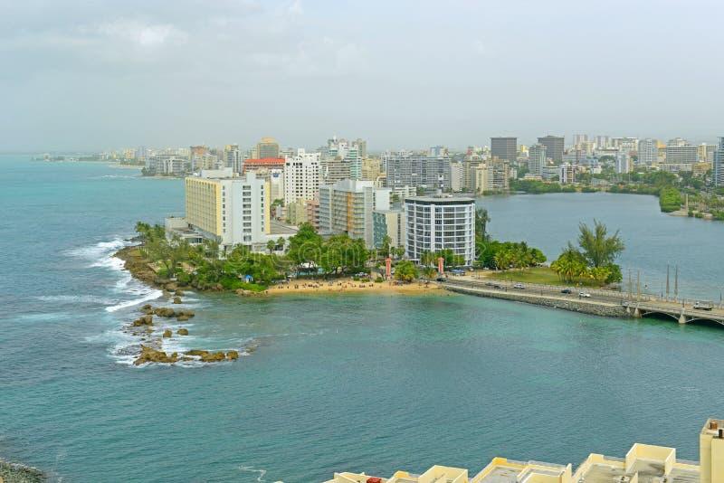 Horizonte de Miramar, San Juan, Puerto Rico foto de archivo
