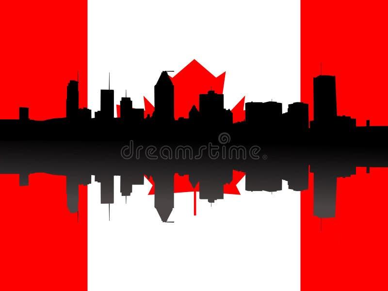 Horizonte de Montreal con el indicador stock de ilustración