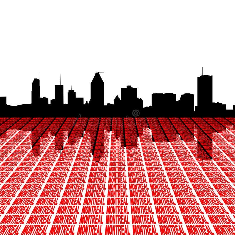 Horizonte de Montreal con el texto ilustración del vector