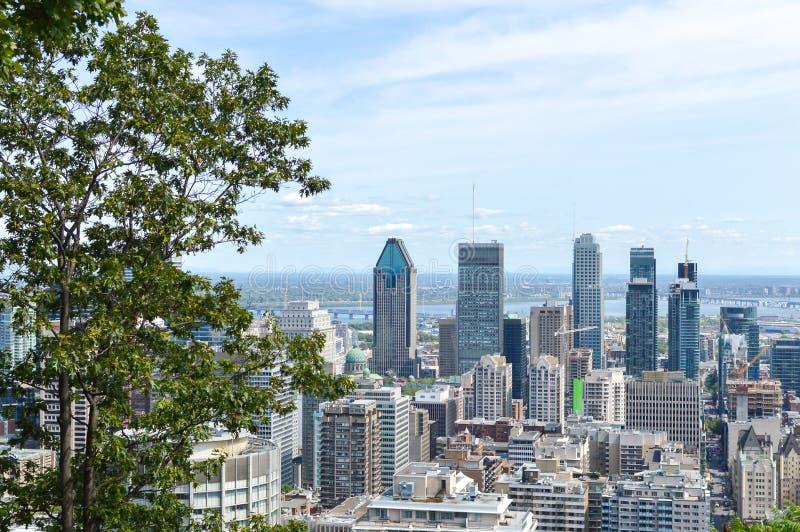 Horizonte de Montreal en verano foto de archivo