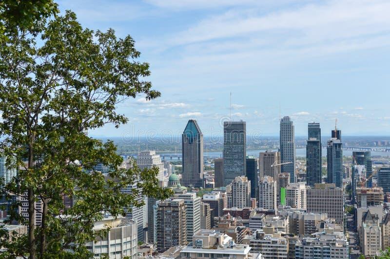 Horizonte de Montreal en verano imagenes de archivo