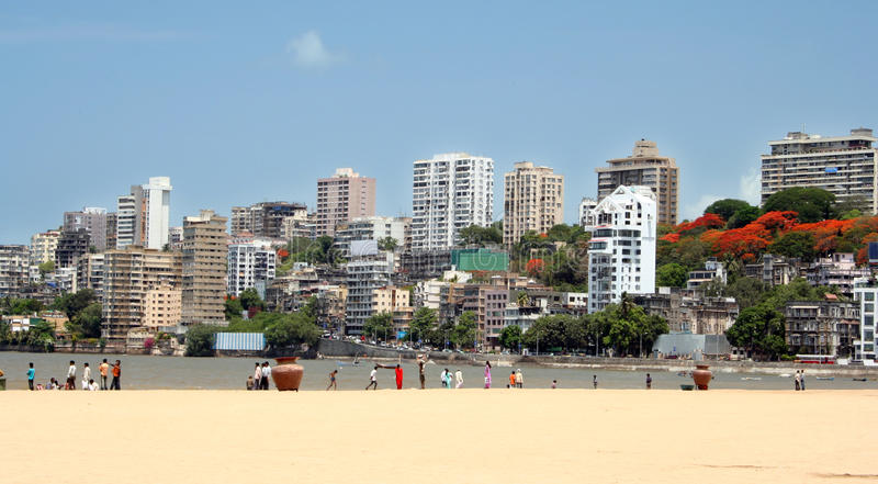 Horizonte de Mumbai foto de archivo libre de regalías
