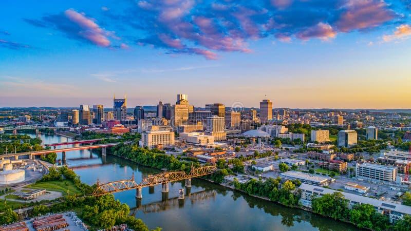 Horizonte de Nashville Tennessee TN imagen de archivo