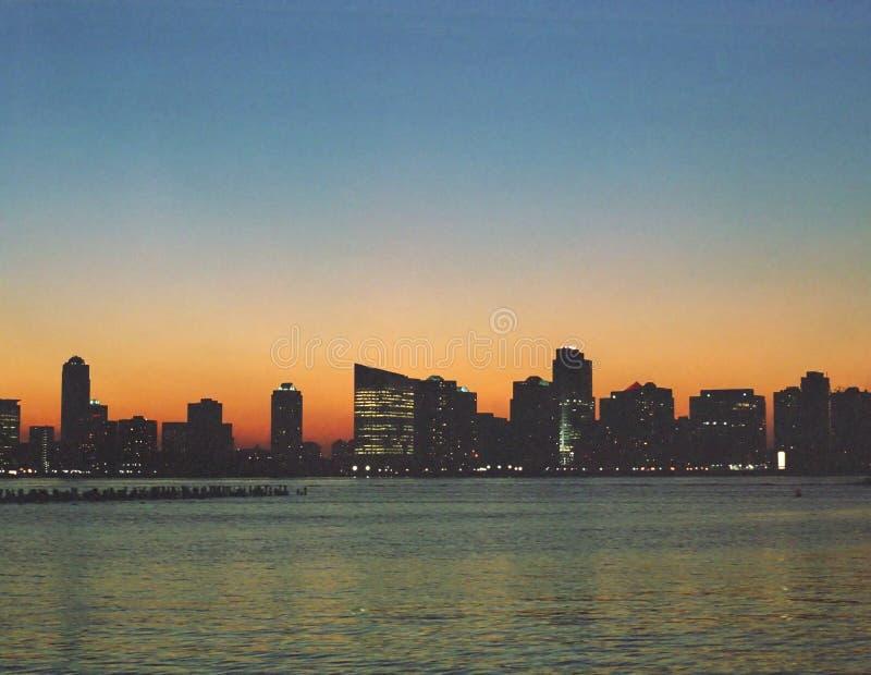 Horizonte de New Jersey foto de archivo