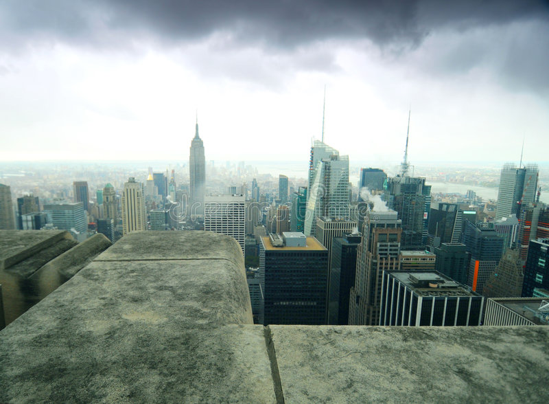 Horizonte de New York City imagen de archivo