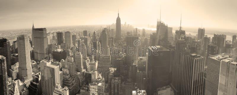 Horizonte de New York City blanco y negro fotografía de archivo