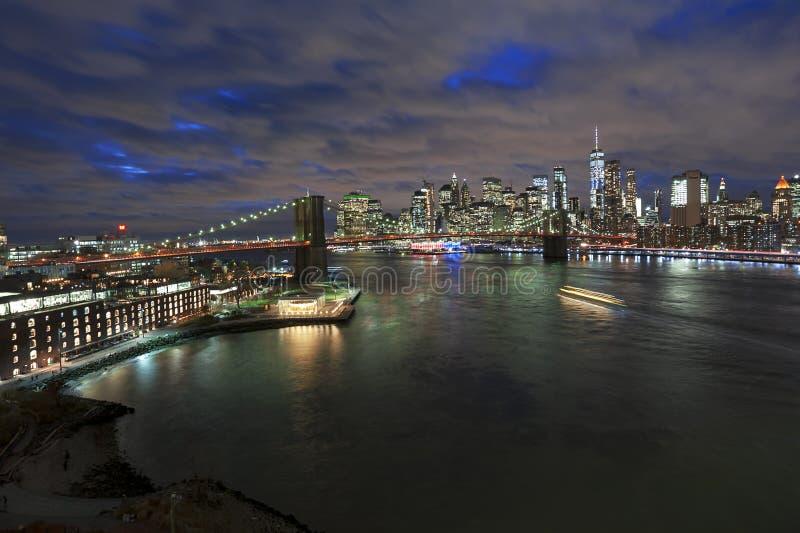 Horizonte de New York City Manhattan fotografía de archivo