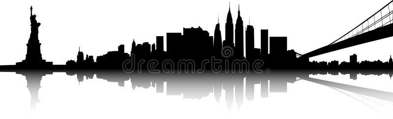 Horizonte de Nueva York stock de ilustración