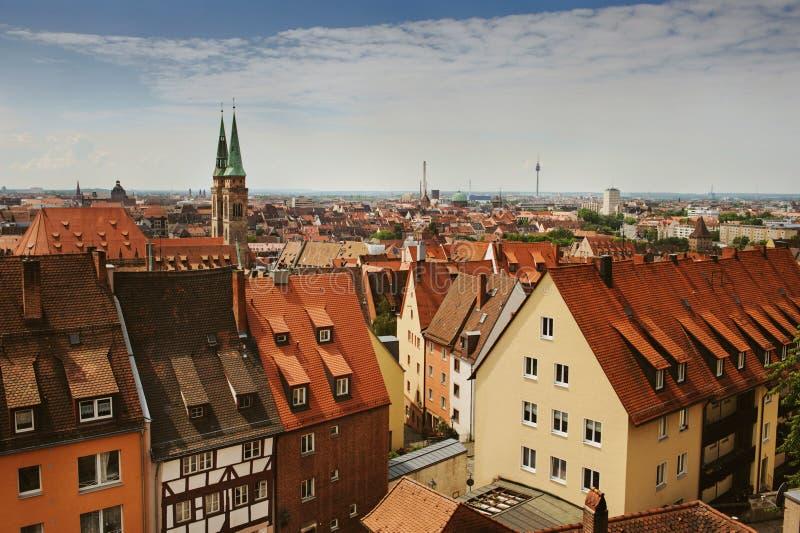 Horizonte de Nuremberg imagenes de archivo