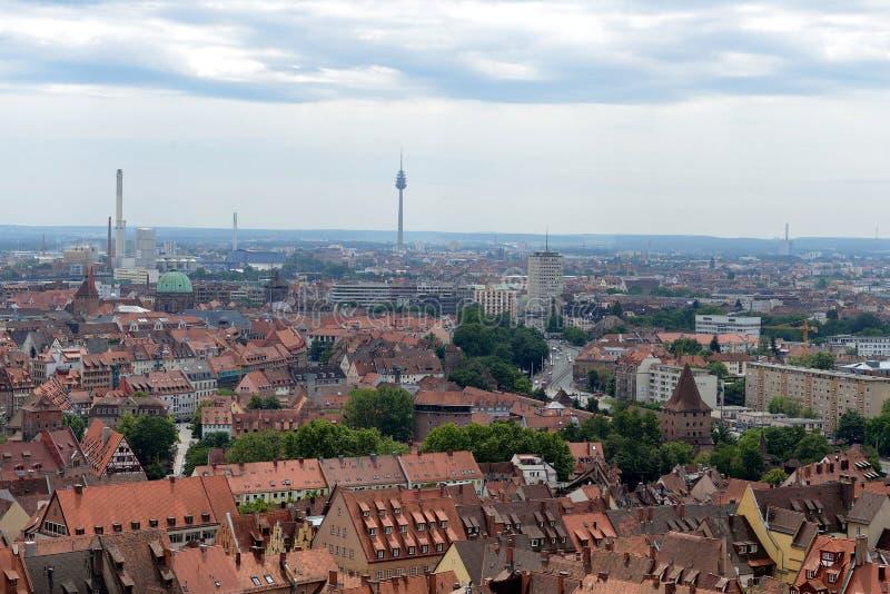 Horizonte de Nuremberg fotografía de archivo libre de regalías