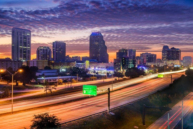 Horizonte de Orlando Florida los E.E.U.U. foto de archivo libre de regalías