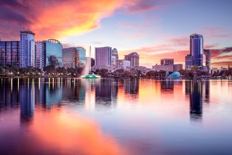 Horizonte de Orlando, la Florida fotografía de archivo libre de regalías