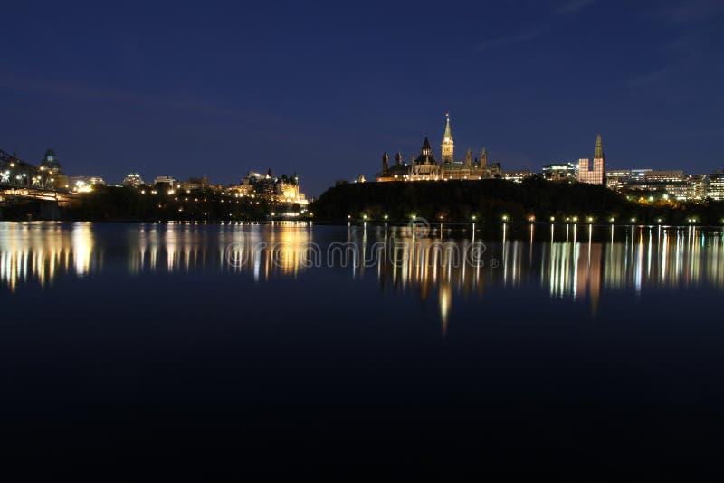 Horizonte de Ottawa imagen de archivo