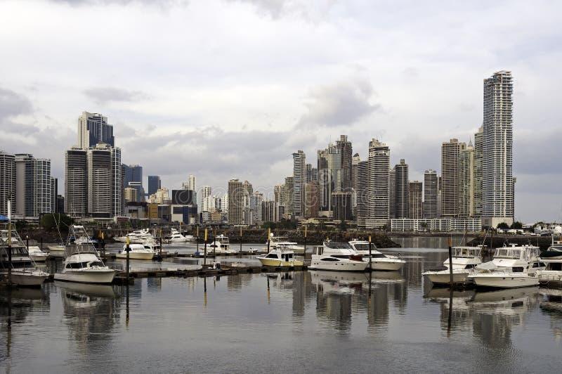 Horizonte de Panama City, Panamá imagen de archivo