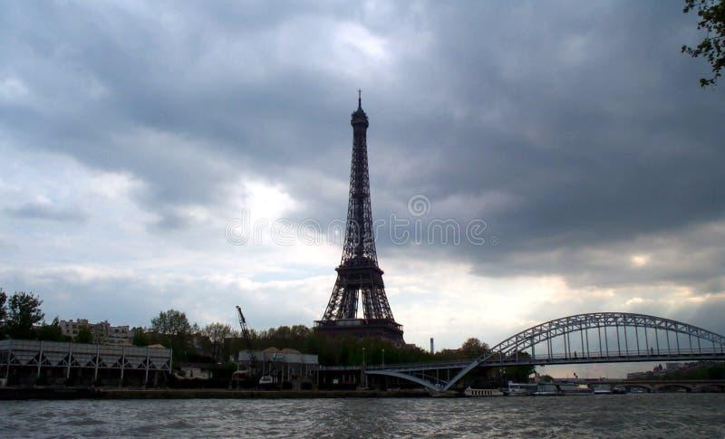 Horizonte de París fotografía de archivo