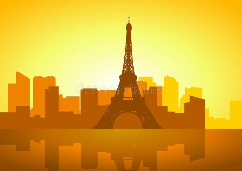 Horizonte de París stock de ilustración