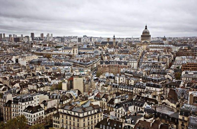 Horizonte de París imagen de archivo