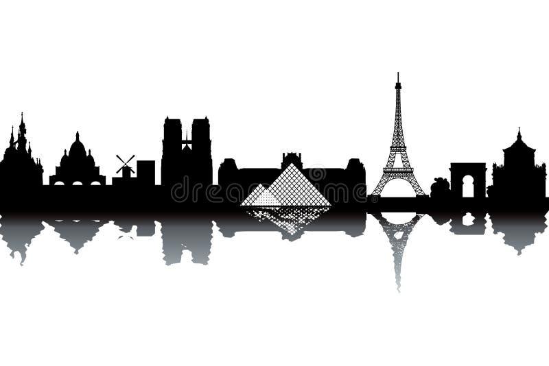 Horizonte de París ilustración del vector