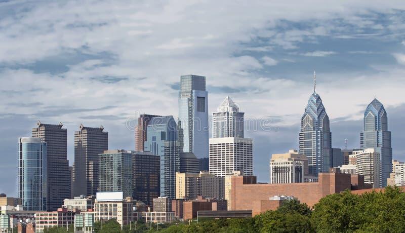 Horizonte de Philadelphia Pennsylvania imagenes de archivo