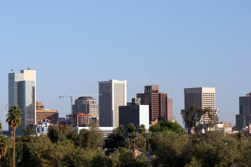 Horizonte de Phoenix, AZ foto de archivo
