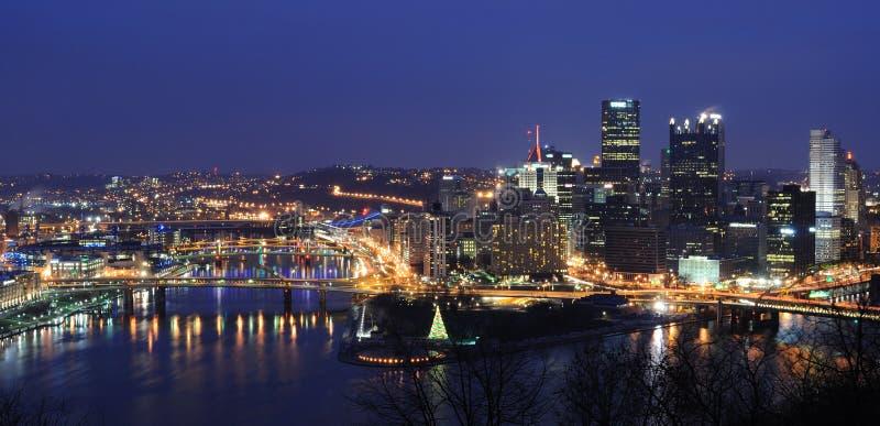 Horizonte de Pittsburgh fotos de archivo