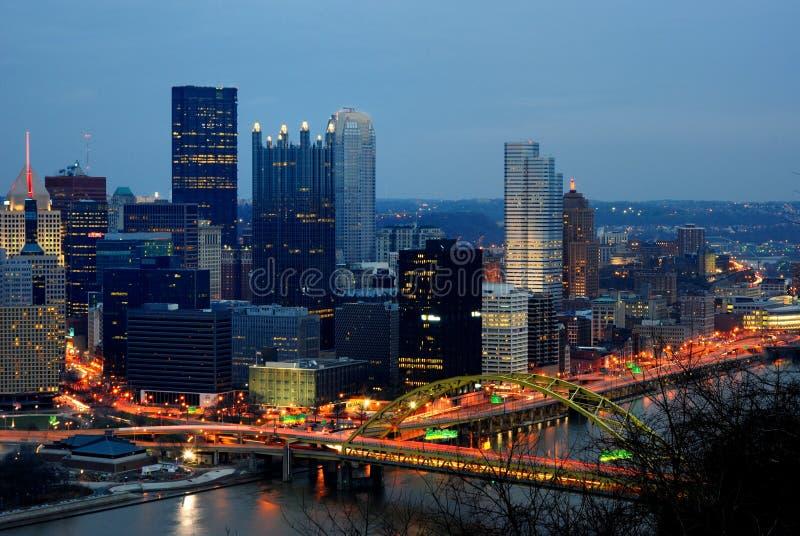 Horizonte de Pittsburgh imagen de archivo libre de regalías