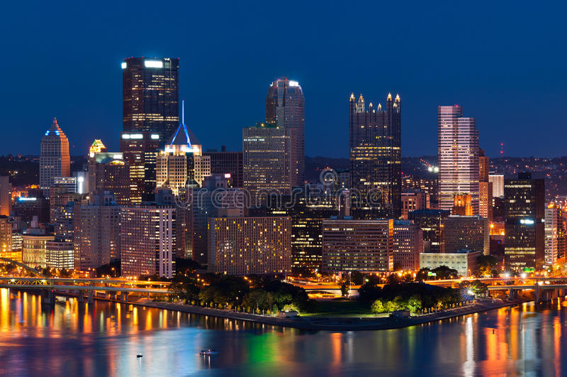 Horizonte de Pittsburgh. imagen de archivo libre de regalías