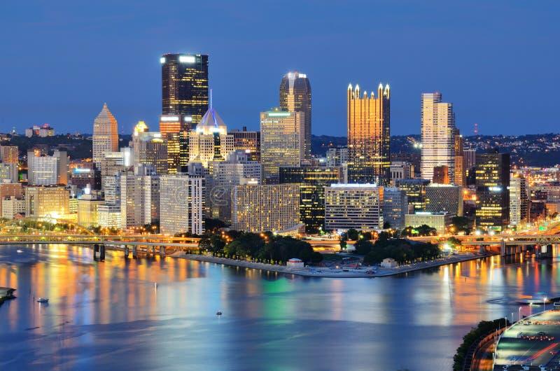 Horizonte de Pittsburgh fotos de archivo libres de regalías