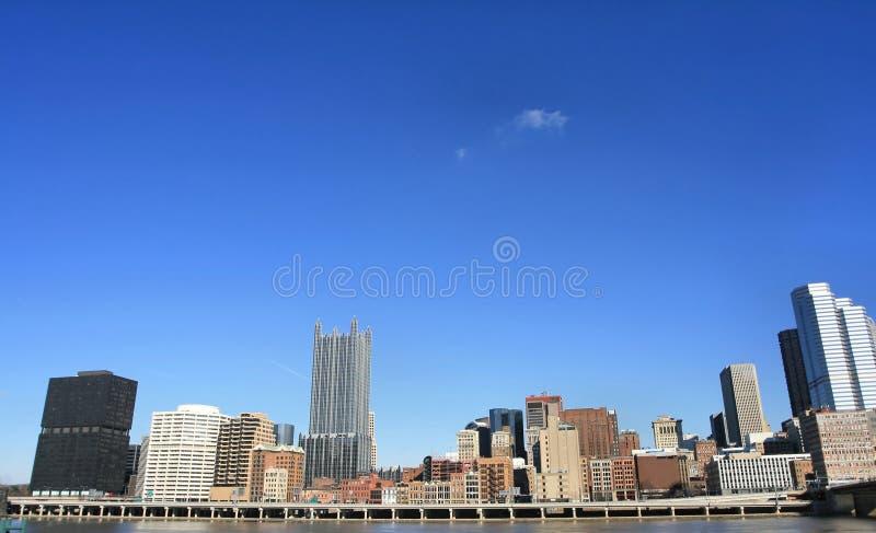 Horizonte de Pittsburgh fotografía de archivo