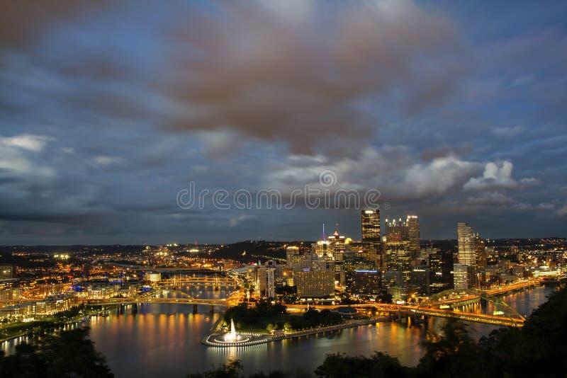Horizonte de Pittsburgh fotografía de archivo libre de regalías
