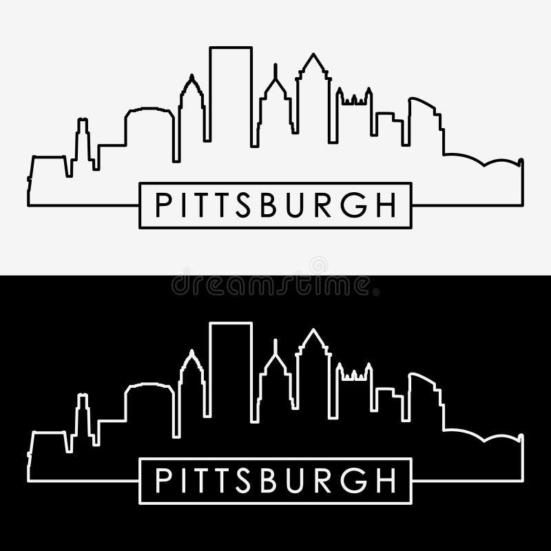 Horizonte de Pittsburgh ilustración del vector