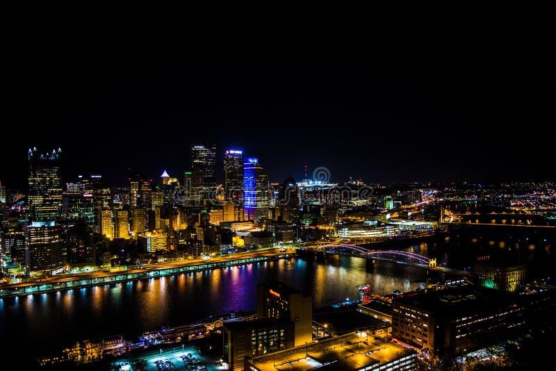 Horizonte de Pittsburgh foto de archivo libre de regalías