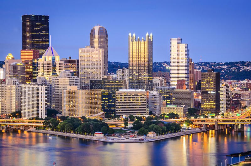 Horizonte de Pittsburgh, Pennsylvania imagenes de archivo