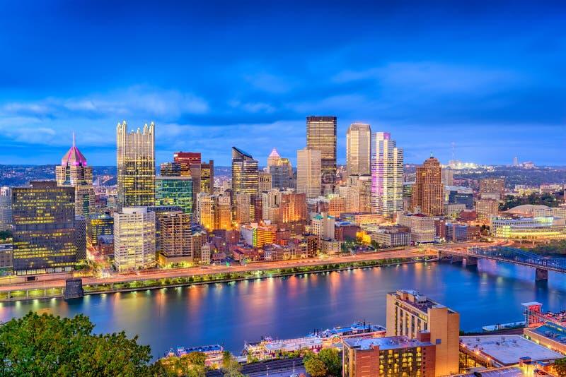 Horizonte de Pittsburgh, Pennsylvania, los E.E.U.U. foto de archivo
