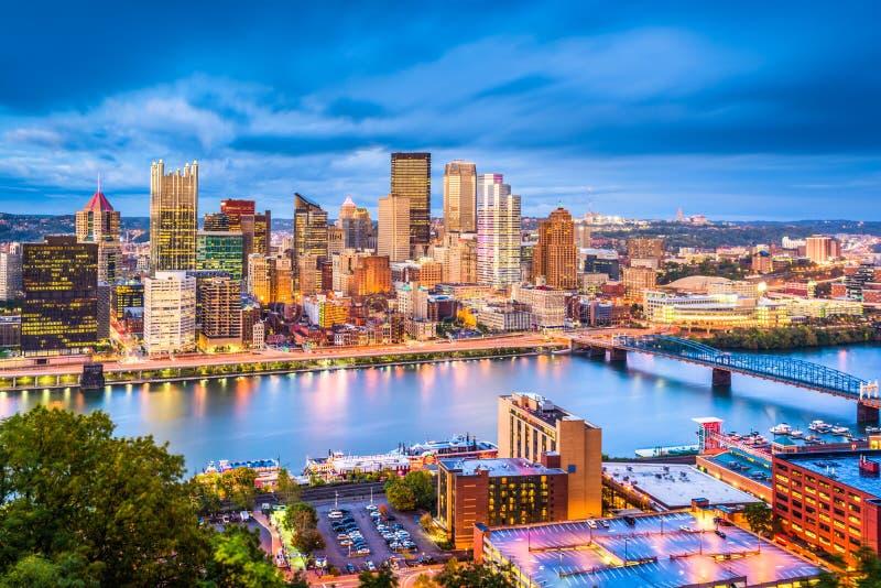 Horizonte de Pittsburgh, Pennsylvania, los E.E.U.U. foto de archivo libre de regalías