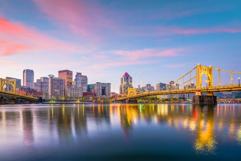 Horizonte de Pittsburgh, Pennsylvania, los E.E.U.U. fotos de archivo