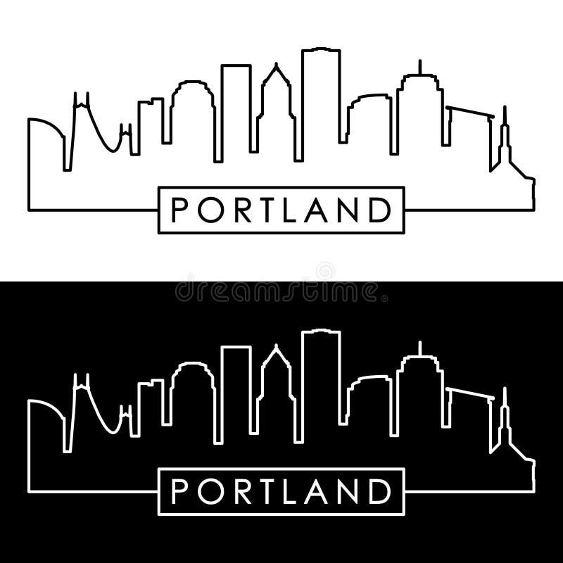 Horizonte de Portland estilo linear libre illustration