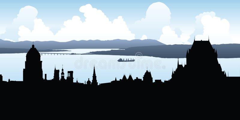 Horizonte de Quebec City ilustración del vector