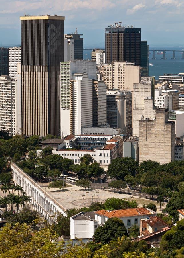 Horizonte de Rio de Janeiro céntrico fotos de archivo