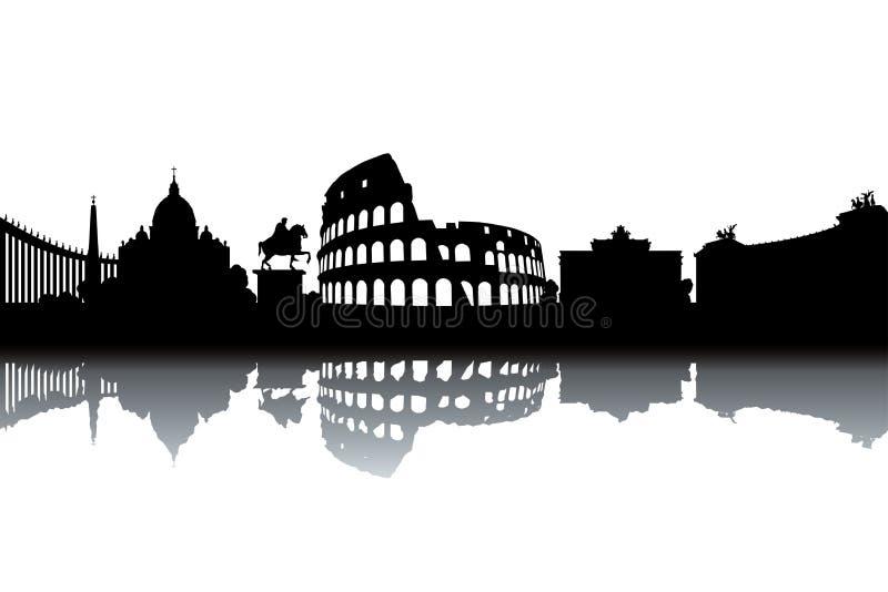 Horizonte de Roma ilustración del vector