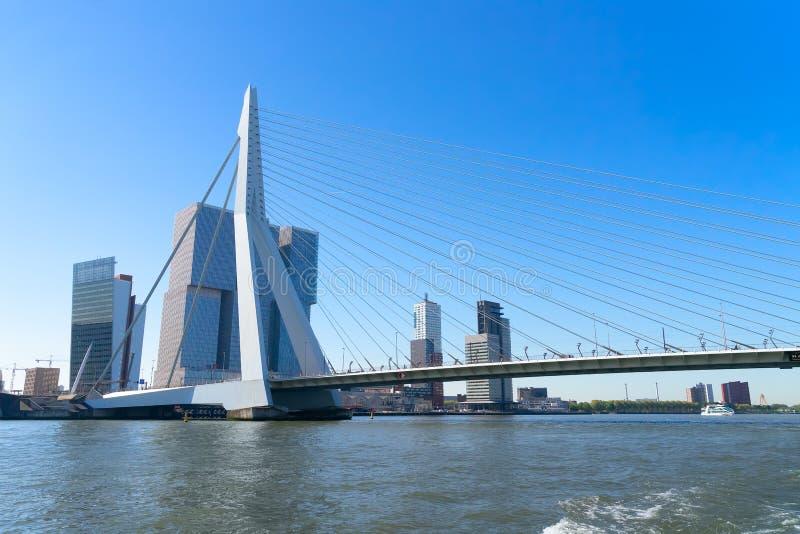 Horizonte de Rotterdam, Países Bajos foto de archivo libre de regalías